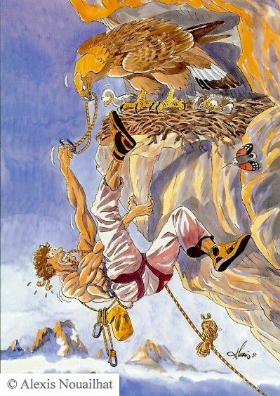 l'aigle royal et le grimpeur