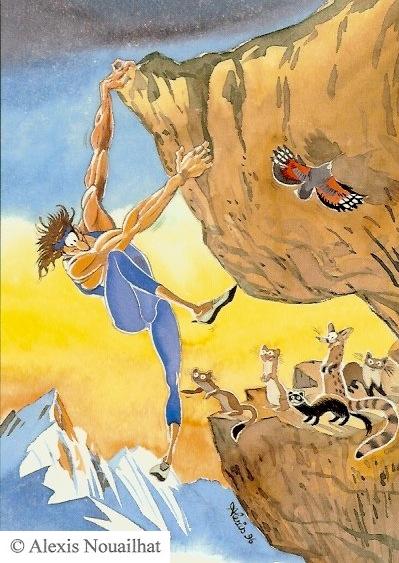 le grimpeur et les petits carnivores