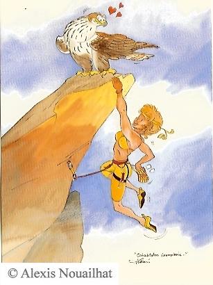 la grimpeuse et l'aigle de bonelli