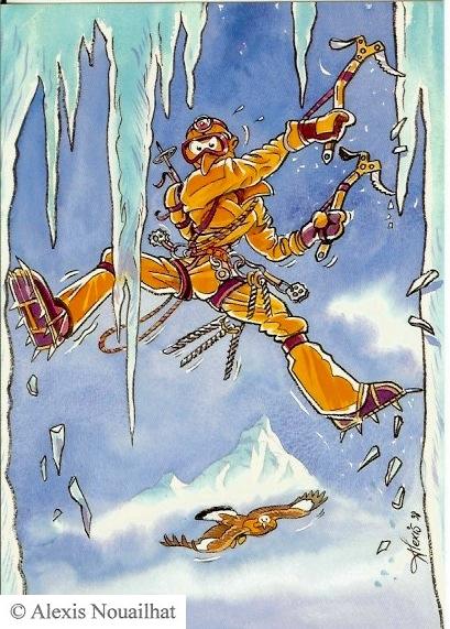 le glaciériste jaune