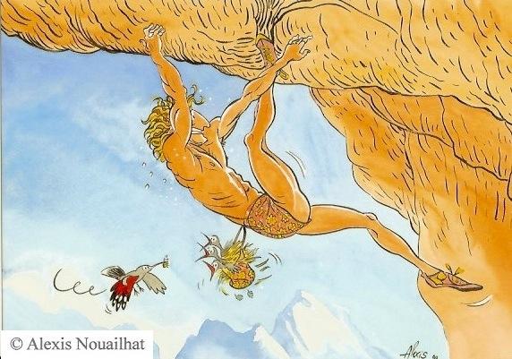 le grimpeur et le nid du tichodrome