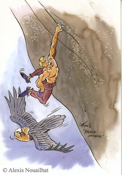 le grimpeur et le gypaète