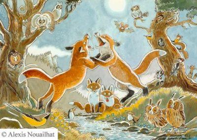 les renards d'eau