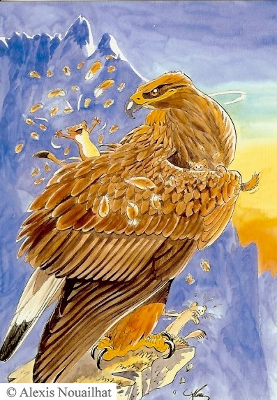l'hermine et l'aigle royal