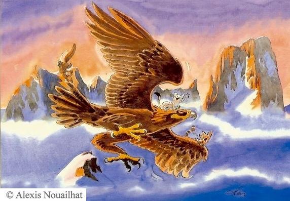 l'aigle et les petits carnivores