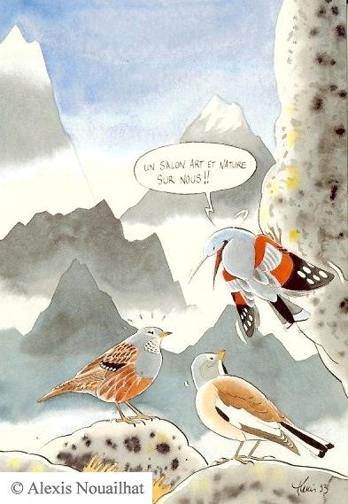 le tichodrome, l'accenteur alpin et la niverolle
