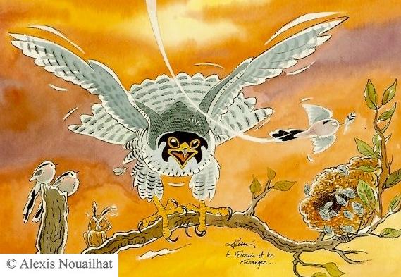 le faucon pélerin et les mésanges