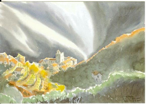 St Martial après l'orage Cévennes