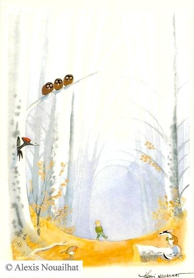 le petit garçon dans la forêt