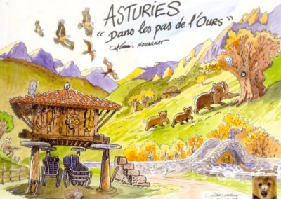 aquarelle Asturies