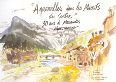 aquarelle massif central