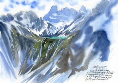 Le lac Blanc et le Grand Pic de Belledonne