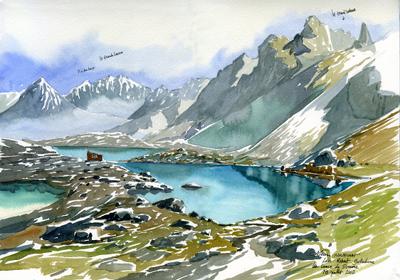 Les Lacs Robert et la Grande Lance de Domène